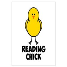 Reading Chick Wall Art