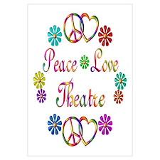 Peace Love Theatre Wall Art
