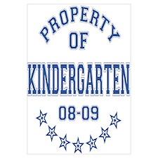 Property of Kindergarten 2008-2009 Wall Art
