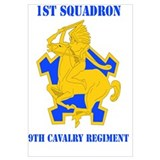 DUI - 1st Sqdrn - 9th Cavalry Regt with Text Mini