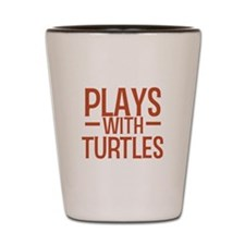 PLAYS Turtles Shot Glass