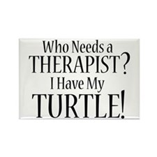 THERAPIST Turtle Rectangle Magnet