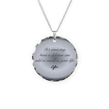 B&W Quote Necklace Charm
