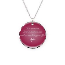 Pink Quote Necklace Charm