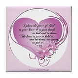 ACIM Keepsake Tile Coaster- The peace of God