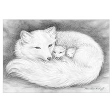 Arctic Fox Family ~ Wall Art