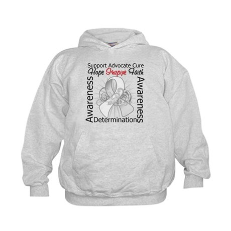 Lung Cancer Hope Inspiring Kids Hoodie