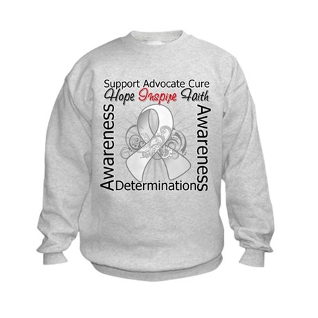 Lung Cancer Hope Inspiring Kids Sweatshirt