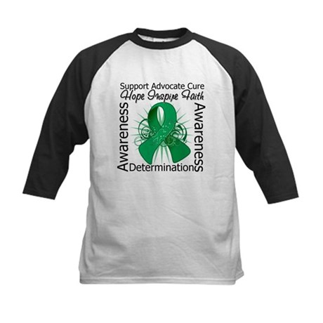Liver Cancer Hope Inspiring Kids Baseball Jersey