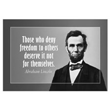 Abe Lincoln Quote on Slavery Wall Art