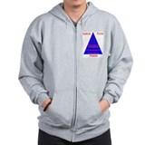 Illinois Food Pyramid Zip Hoodie
