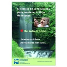 Spanish- Nature's secret: Give only the breast
