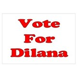 Vote for Dilana (Red) Wall Art