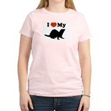 I luv my ferret Women's Pink T-Shirt