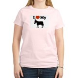 I luv my donkey Women's Pink T-Shirt