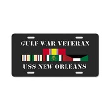 USS New Orleans Gulf War Veteran Aluminum License