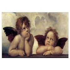 The Sistine Madonna (detail) Wall Art