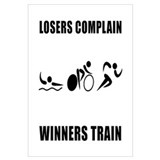 Triathlon Winners Train Wall Art