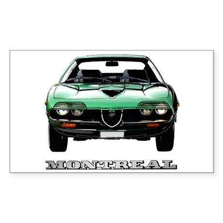 Alfa Romeo Montreal Sticker (Rectangle)