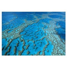 Aerial view of coral formations in Hardy Reef, Gre