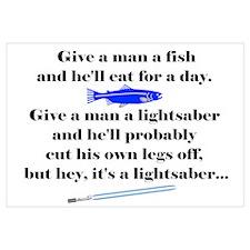 Give a Man a Fish Wall Art