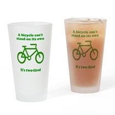 Bicycle Stand On Its Own Drinking Glass