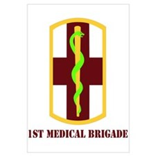 SSI - 1st Medical Bde with Text Wall Art