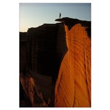 Person standing atop the Kings Canyon north wall,