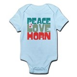 Peace Love Horn Onesie