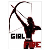 Katniss Girl on Fire Wall Art