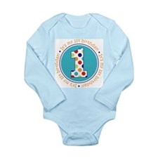 Funny 1st birthday Long Sleeve Infant Bodysuit