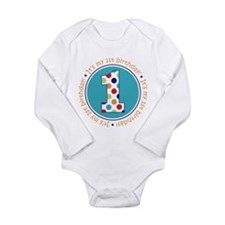 Cute Baby's first birthday Long Sleeve Infant Bodysuit