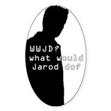 WWJD? sil Oval Decal