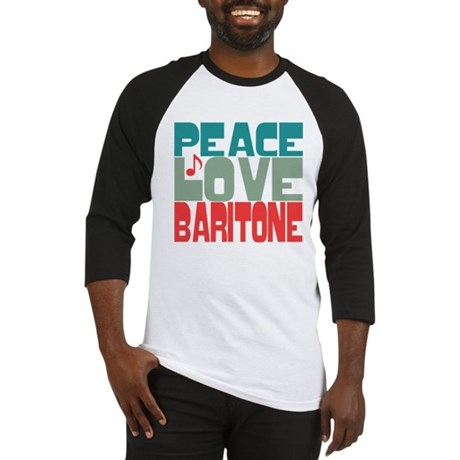 Peace Love Baritone Baseball Jersey