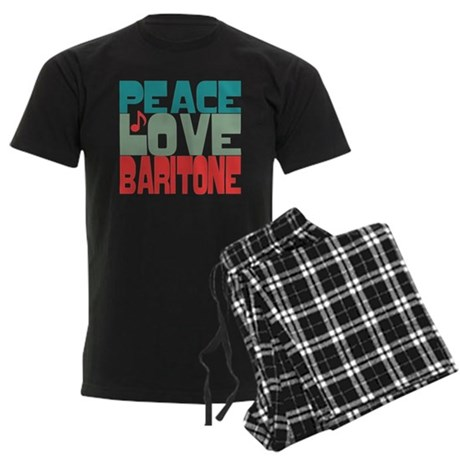 Peace Love Baritone Men's Dark Pajamas