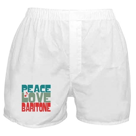 Peace Love Baritone Boxer Shorts