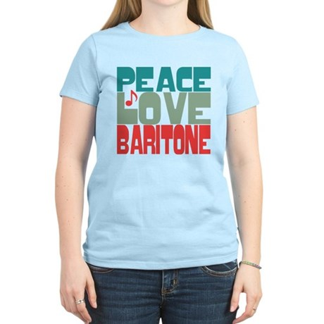 Peace Love Baritone Women's Light T-Shirt