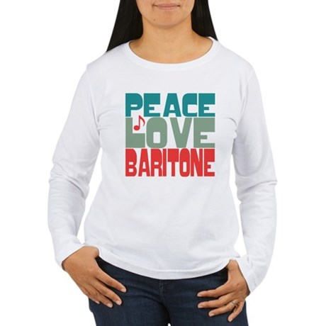 Peace Love Baritone Women's Long Sleeve T-Shirt