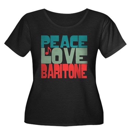 Peace Love Baritone Women's Plus Size Scoop Neck D