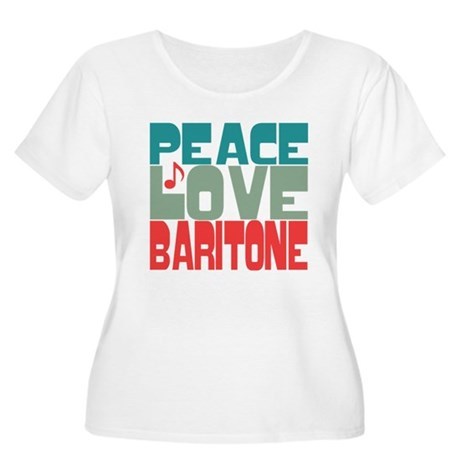 Peace Love Baritone Women's Plus Size Scoop Neck T