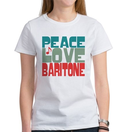 Peace Love Baritone Women's T-Shirt