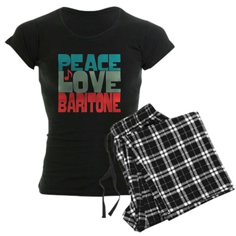 Peace Love Baritone Women's Dark Pajamas