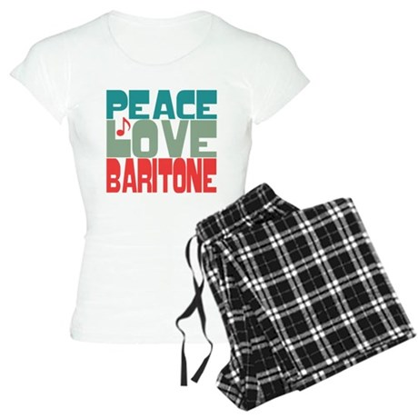 Peace Love Baritone Women's Light Pajamas