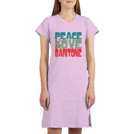 Peace Love Baritone Women's Nightshirt