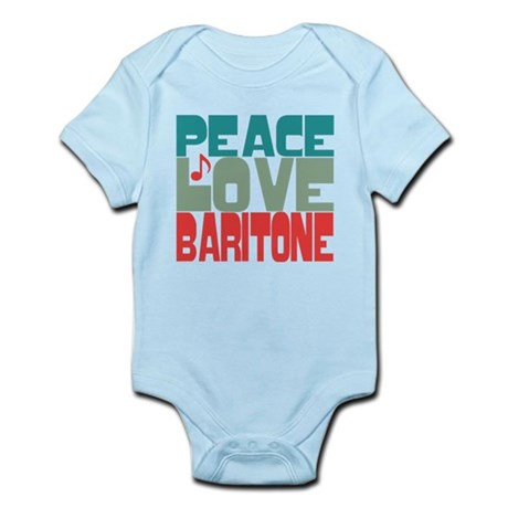 Peace Love Baritone Infant Bodysuit