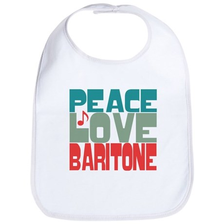 Peace Love Baritone Bib