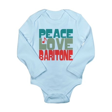 Peace Love Baritone Long Sleeve Infant Bodysuit