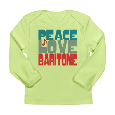Peace Love Baritone Long Sleeve Infant T-Shirt