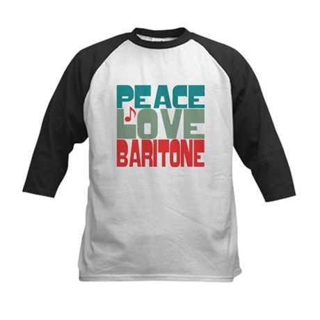 Peace Love Baritone Kids Baseball Jersey