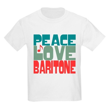 Peace Love Baritone Kids Light T-Shirt